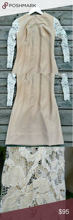 Vintage dress Lovely vintage dress, lace sleeves just beautiful 😍😍😍small, if measurements are needed let me know 😊 Vintage Dresses