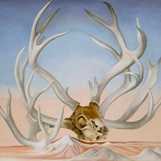 Georgia O'Keeffe (American, Sun Prairie, Wisconsin Santa Fe, New Mexico). From the Faraway, Nearby From one lover of bones to another. Georgia O'keeffe, New Mexico, Wisconsin, Georgia O Keeffe Paintings, Women Artist, Female Artist, Skull Painting, New York Art, Alfred Stieglitz