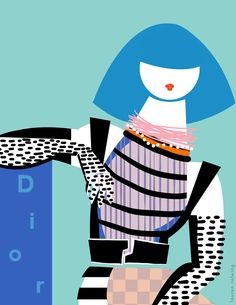 Fashion Illustration Patterns - Illustrator Lauren Rolwing brings us key looks from the recent fashion events. Some people describe her work as being in the vein of pop-graphic, but modern and refined.