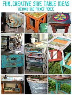 Incredibly fun and whimsical side tables! See more details here...