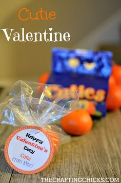 Cutie Valentine: A Healthy Treat with FREE Printable via @craftingchicks