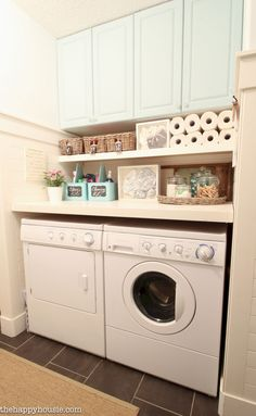 14 Basement Laundry Room ideas for Small Space (Makeovers) Laundry room decor Small laundry room ideas Laundry room makeover Laundry room cabinets Laundry room shelves Laundry closet ideas Pedestals Stairs Shape Renters Boiler Laundry Room Remodel, Laundry Room Cabinets, Laundry Room Organization, Diy Cabinets, Basement Laundry, Laundry Detergent Storage, Ikea Laundry, Laundry Cupboard, Utility Cupboard