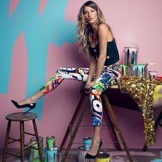 Graffiti-Print Skinny Pants by Moschino