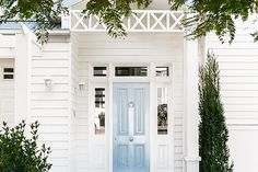 The Pink Pagoda: Blue and White with Veranda House
