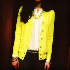 cardigan and necklace