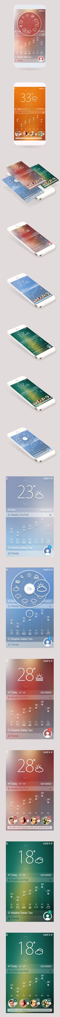 Weather App #ui #design #app #iOS #ux