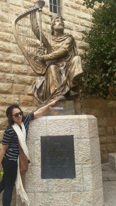 King david in old jerusalem Israel.