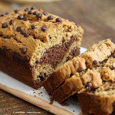Almond or Peanut Butter Chocolate Marble Cake - Vegan Richa