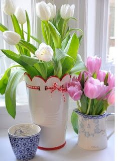 ❀ ✿༻ Lovely ❤ Bouquet Tulips and Greengate