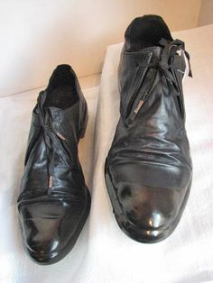 CAROL CHRISTIAN POELL, OBJECT DYED UNCONSTRUCTED DRIP-RUBBER OXFORDS: unfinished dripping sole that you walk all over? metaphorical footwear.