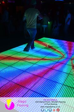 Dance Floor Image Copyright of Magic Flooring For info contact Magic Lighting on 31 462 9473 / 824 430 321 / mailto:sales Photos by Bizzexpose Led Dance, Magic, Flooring, Lighting, Photos, Pictures, Wood Flooring, Lights, Lightning