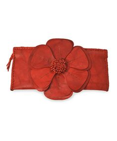 Take a look at this Red Natalie Clutch by Adam Alexis on #zulily today!