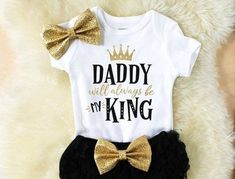 daddys girl clothes - baby girl clothes - baby shower gift - new baby gift - baby clothes - girl clothes - new baby clothes Baby Outfits, Tutu Outfits, Kids Outfits, Winter Outfits, Daddys Girl, Cute Baby Girl, Baby Boy, Baby Girls, Mama Baby