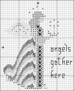 Celest angel pattern - you choose colors, words, and what she has in her hand.