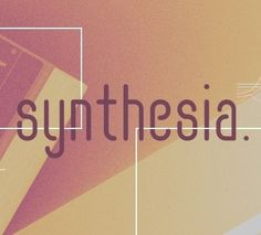 The Synthesia font is a rather tall and narrow font with soft edges created by Cahya Sofyan.
