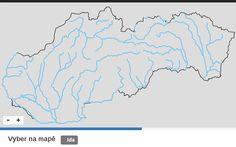 Česká republika - Řeky - Slepé mapy - inteligentní aplikace na procvičování zeměpisu