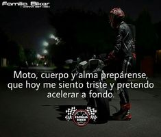 Seeee hace falta Biker Love, Biker Girl, Motocross Girls, Stunt Bike, Biker Quotes, I Love You Baby, Sportbikes, Thug Life, My Passion