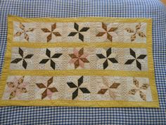 ANTIQUE DOLL QUILT HAND QUILTED OLD CALICOS 1870S- VARIATION OF WINDMILL EX COND