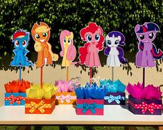 My Little Pony Birthday Party Centerpiece Favors Guest Table Decoration for Birthday Party Food Court Candy Buffet My Little Pony INDIVIDUAL