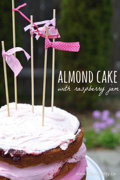 Almond Cake with Raspberry Jam -delicious home made almond cake recipe ...