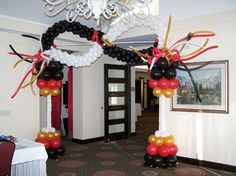 Masquerade Mask Entryway - Greeley West Prom 2007 at Greeley Country Club Created by Merry Makers & Decorators l.l.c. www.makeitmerry.com