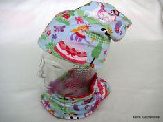 Mützen - Wende-Beanie + -Halssocke, Wunschgröße, Prinzessin - ein Designerstück von kleine_Kuschelrobbe bei DaWanda