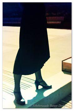 Flamenco skirt A line basic practice skirt in black and no ruffles by ScheherazadeBanoo, $45.00
