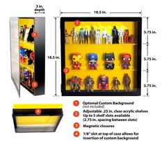 Amazon.com: Action Figure Display Case: Toys & Games Funko Pop Display, Toy Display, Display Cases, Display Ideas, Action Figure Display Case, Toy Rooms, Displaying Collections, Toy Storage, Diy Organization
