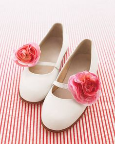 Flower girl flower shoes