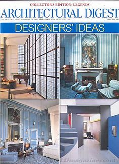 Architectural Digest January 2001