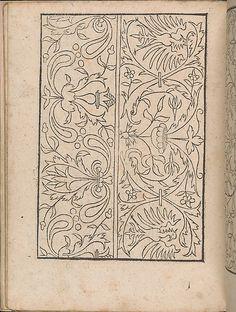 New Modelbüch allen Nägerin u. Sydenstickern (Page 15v).  Hans Hoffmann.  1556.