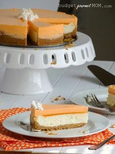 Orange Creamsicle Cheesecake Ingredients: Graham Cracker Crust 1/2 cup butter, melted 2 tablespoons granulated sugar 2 cups graham cracker crumbs Cheesecake 2 - 8 oz packages cream cheese, softened 1/2 cup granulated sugar 1 teaspoon vanilla 2 large eggs 1/2 cup sour cream Orange Creamsicle Layer1 - 3 oz box orange flavored gelatin1 1/2 cup boiling water1 - 8 oz container of whipped topping such as Cool WhipInstructions:Preheat the oven to 325°.In a mixing bowl combine the butter, sugar, and…