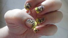 konad nail art, I love the yellow!