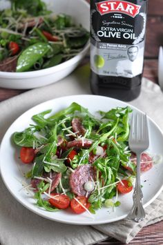 Salami Salad #STARFineFoods This salad dressing uses STAR's Signature Series Extra Virgin Olive Oil by Ferran Adria available exclusively at Safeway & Vons stores.