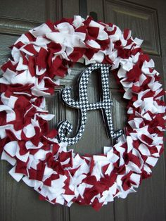 University of Alabama Wreath by FrontDoorDecor on Etsy, $40.00