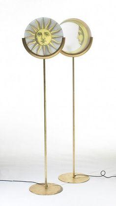 116: Piero Fornasetti / lampada della luna e del sole, pair < Modernist 20th Century, 22 May 2005 < Auctions | Wright