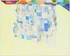 """Thomas Nozkowski, """"Untitled (P-90)"""" (2010), oil on paper."""