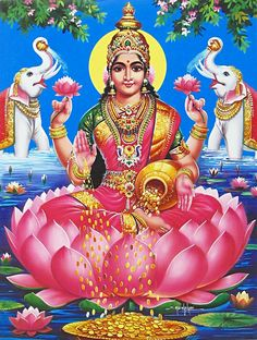 Lakshmi is the Hindu god of wealth, fortune & prosperity and also the wife of Lord Vishnu. Here is a collection of Goddess Lakshmi Images & HD wallpapers. Lakshmi Photos, Lakshmi Images, Tigh Tattoo, Lord Ganesha Paintings, Lotus Art, Lord Vishnu Wallpapers, Lord Murugan, Yin En Yang, Durga Puja