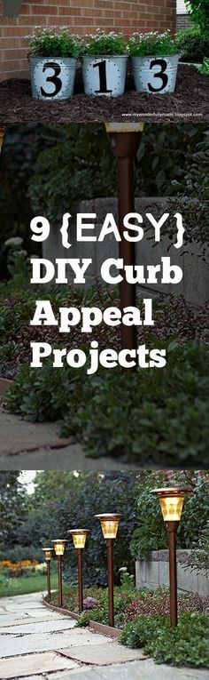 9 {Easy} DIY Curb Appeal Projects