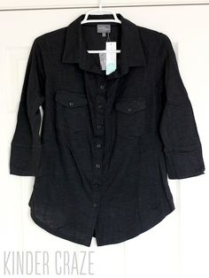 Jamie Button Down Cotton Shirt from Market and Spruce ($54) Stitch Fix - LOVE!