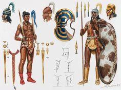 Late Minoan warrior, B. - art by Giuseppe Rava Greek History, Ancient History, Greek Warrior, Warrior 1, Minoan Art, Alexandre Le Grand, Mycenaean, Armadura Medieval, Templer