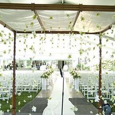 Beautiful chuppah with hanging flowers. | The True Confessions of a Bridezilla: My new obsession...