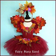 Fall Woodland FAIRY COSTUME - child's size 4/6 toddler - Halloween - Birthday…