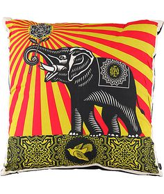 peace elephant throw pillow    ////    $31.99