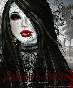 Vampire bride Vampire Bride, Vampire Love, Female Vampire, Gothic Vampire, Vampire Girls, Vampire Art, Gothic Fantasy Art, Fantasy Girl, Fantasy Artwork