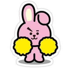 cooky' Sticker by dtowns Tumblr Stickers, Diy Stickers, Printable Stickers, Bts Drawings, Bts Chibi, Line Friends, Aesthetic Stickers, Bts Pictures, Bts Jungkook