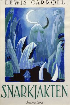 Tove Jansson's illustrations for the finnish edition of The Hunting of the Snark. In an exhibition of her work at the Centre Belge de la Bande Dessinée. Book Illustration, Graphic Design Illustration, Illustrations, Tove Jansson, Beautiful Book Covers, Fairytale Art, You Draw, Conte, Book Art