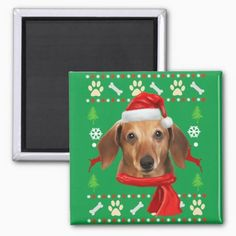 Dachshund Dog Ugly Christmas Magnet daughter to dad gifts, fathers day present from baby, mothers day gifts meaningful Dachshund Quotes, Dachshund Shirt, Dachshund Gifts, Funny Dachshund, Dachshund Love, Dapple Dachshund Puppy, Dachshund Puppies For Sale, Diy Father's Day Crafts, Father's Day Diy