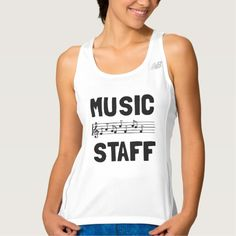 Music Staff Workout Tank Top Tank Tops