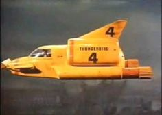 The Thunderbird carried by the Thunderbird 2 from the UKTV series Thunderbirds. The Supermarionation show from Gerry & Sylvia Anderson ran from 1965 to Thunderbird 1, Thunderbirds Are Go, Brian Johnson, Classic Sci Fi, Cult, Opening Credits, Old Tv, Vintage Toys, Retro Toys